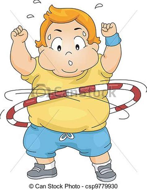 imagenes de niños obesos jugando videojuegos vector clip art de ni 241 o aro sobrepeso hula utilizar