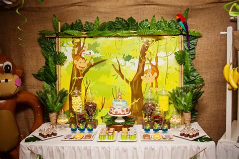 jungle themed birthday party piece of cake ethan s 5th birthday monkey jungle party