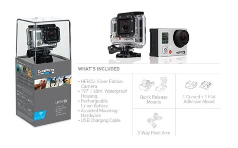Kamera Gopro 3 Silver kamera gopro hd 3 silver edition sklep avebmx