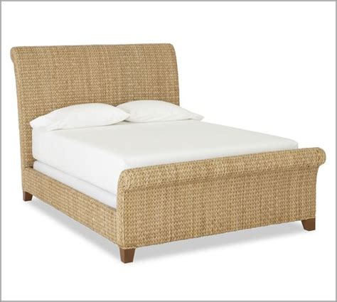 seagrass bed seagrass sleigh bed pottery barn
