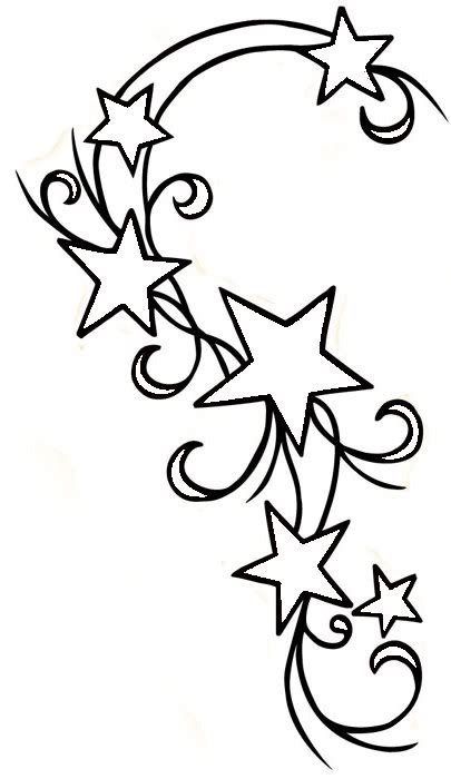 printable star tattoo designs star design outline clipart best