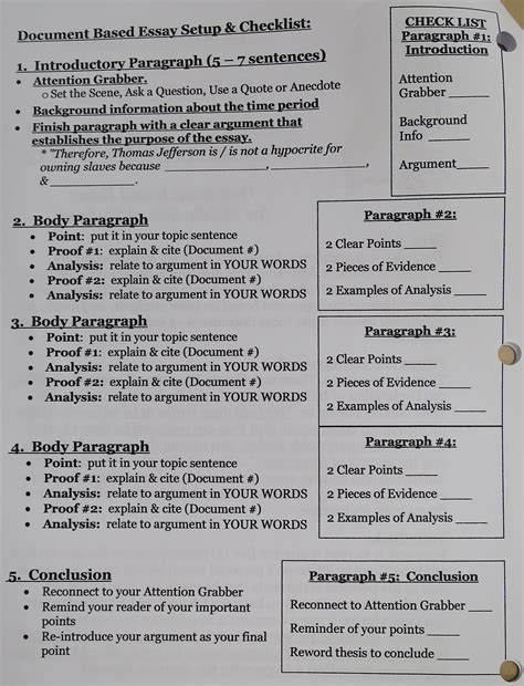 Document Based Question Essay Exle by Document Based Question Essay Format