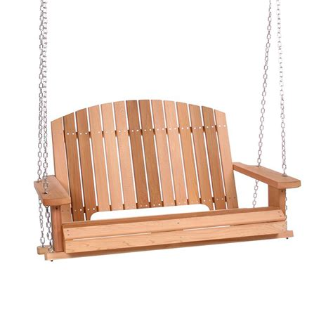deck swings shop all things cedar natural porch swing at lowes com