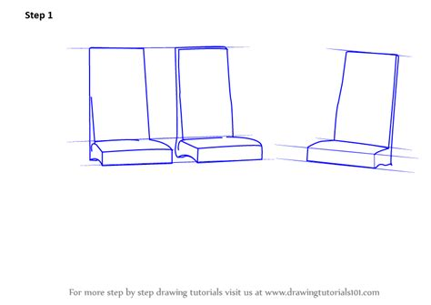 how to draw a recliner chair step by step learn how to draw dining table with chairs furniture