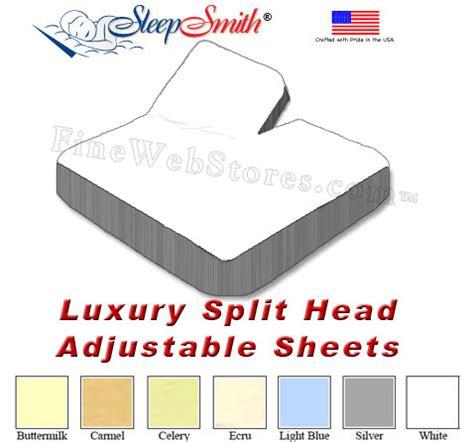 King Size Adjustable Bed Sheets Luxury Eastern King Split Adjustable Sheets 300