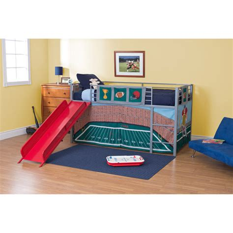 walmart loft bed with slide boys football stadium twin loft bed with slide red seo