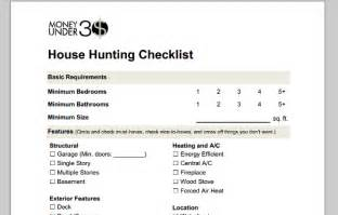 home needs home buying checklist