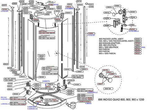 Daryl Shower Door Spares Daryl Indigo 696 Quadrant Door Shower Spares And Parts