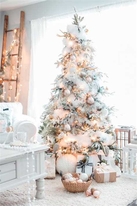 tree decor for home gold white christmas tree christmas home christmas