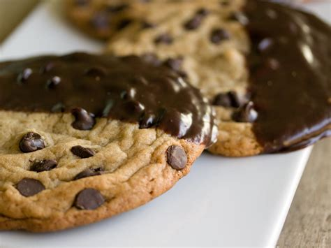 How To Decorate Cookies With Chocolate by Ganache Dipped Chocolate Chip Cookies Recipe Hgtv