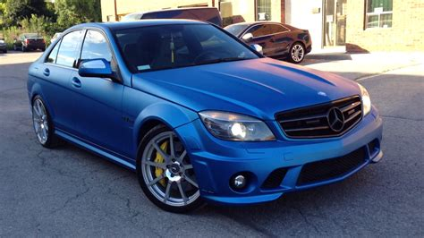 matte blue c63 amg in matte metallic blue looks frozen autoevolution
