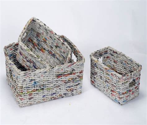 como hacer cestas de papel de periodico como hacer cestos de papel imagui