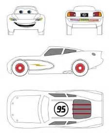 Lightning Mcqueen Car Template For Cake Lightning Mcqueen Mcqueen And Lightning On
