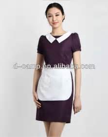 Wu 013 summer short sleeves purple bar maid uniform hotel buy maid