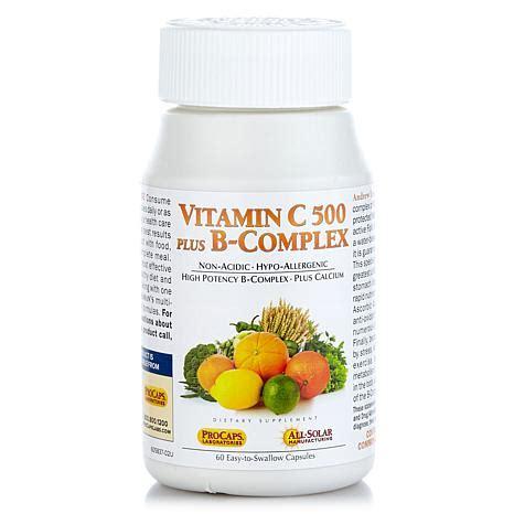 Vitamin B Complex Plus Vitamin C 500 Plus B Complex 60 Capsules 8376307 Hsn