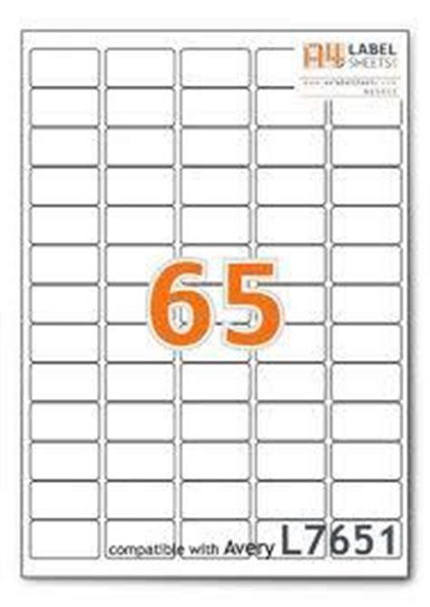 label template 65 per sheet 650 address labels 65 per a4 sheet laser inkjet l7651