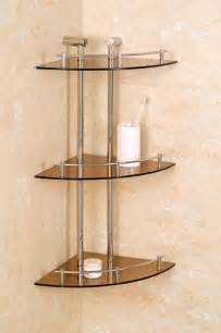 decorative glass shelves bathroom bathroom awesome 3 tier glass shelf corner shower holder