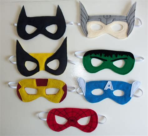 How To Make A Robin Mask Out Of Paper - felt mask templates cutesy crafts