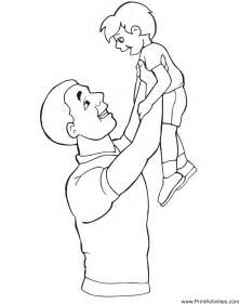 fathers day coloring page dad lifting son