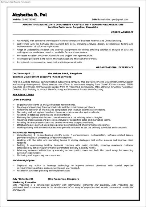 business analyst templates free business analyst resume template free sles exles