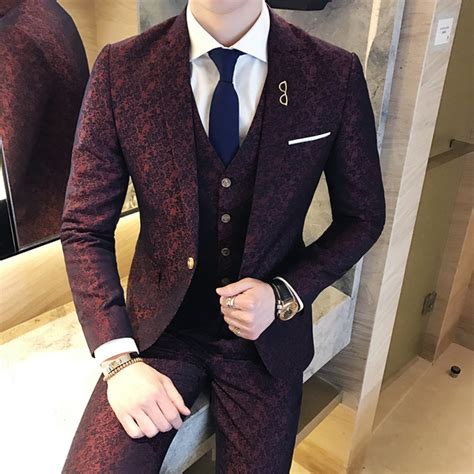 Wedding Mens Suits by Aliexpress Buy Mens Wedding Suits 2017 Burgundy