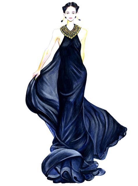 fashion illustration in style series gu