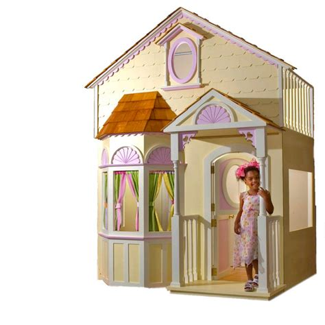 dollhouse bed custom made girls doll house bed with slide staircase