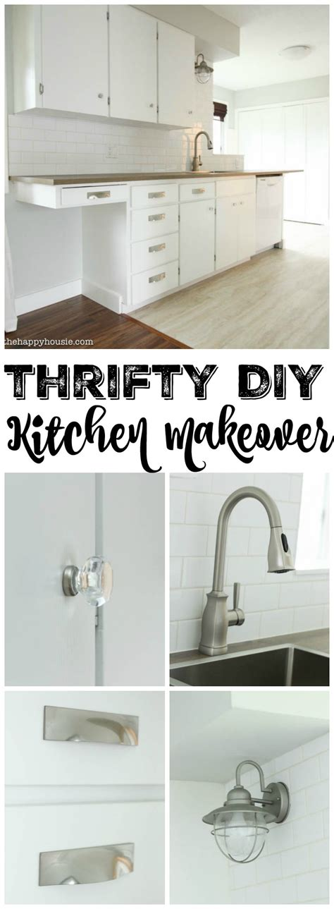diy floor l makeover super thrifty budget white kitchen makeover reveal the