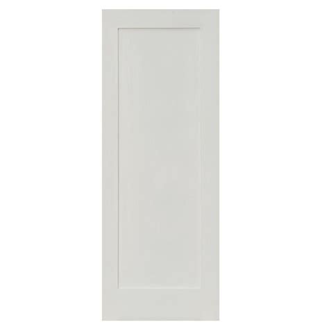 Krosswood Doors 32 In X 80 In Shaker 1 Panel Primed Mdf Interior Door