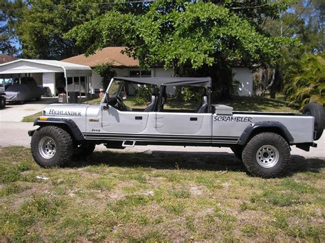 convertible jeep truck 1984 jeep cj 4 dr convertible truck for sale