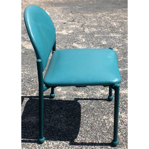 Blue Green Chair by Vintage Chair With Blue Green Upholstery Ebay