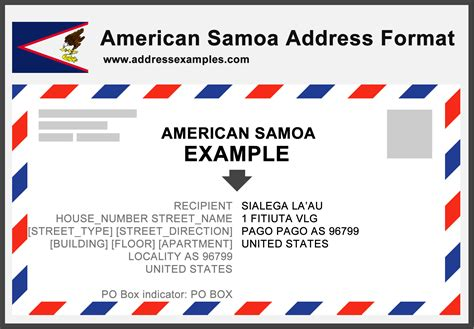 Www Address American Samoa Address Format Addressexles