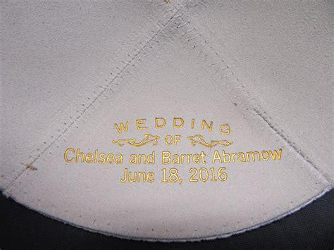 Wedding Yarmulkes by Personalized Kippot For Wedding Mini Bridal
