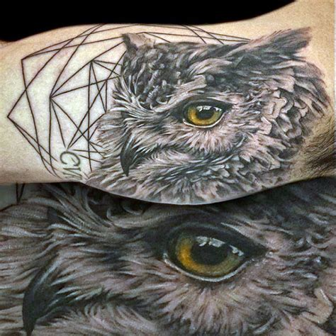 realistic owl tattoo 70 owl tattoos for creature of the designs