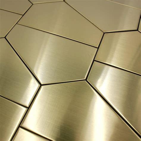 piastrelle acciaio piastrelle in acciaio inox dorato parete e pavimento cedar