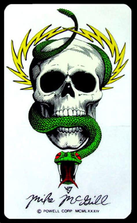 Sticker Powell Peralta Mike Mc Gill mike mcgill sticker powell peralta