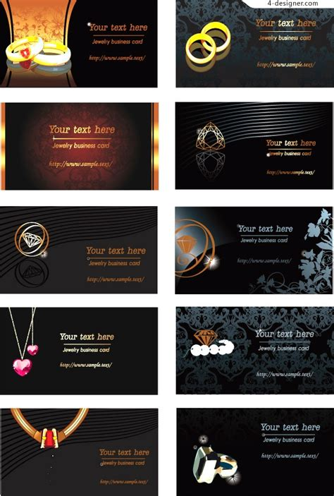 exle templates business cards for jewelry designers images 4 designer jewelry theme business card template vector