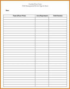 13 free sign in sheet template plantemplate info