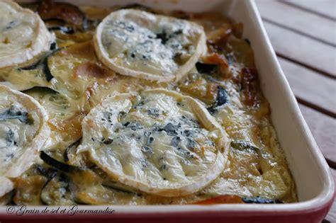 bleu besan輟n recettes cuisine courgettes et pommes de terre fondantes au bleu facile et