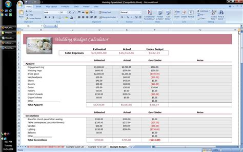 Wedding Planning Excel Spreadsheet by Wedding Planner Excel Spreadsheet Software Business