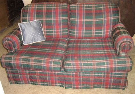 plaid sofa and loveseat uhuru furniture collectibles red and green plaid sofa