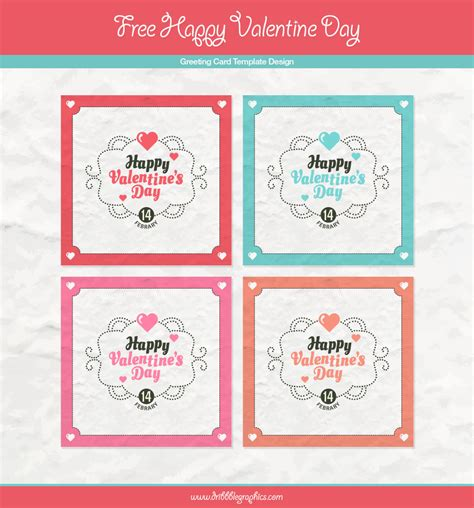 free happy day greeting card template design