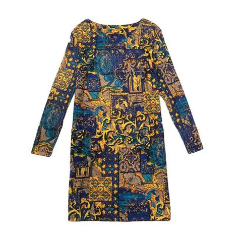 lovely printing dress 0031 2016 newest dress plus size 4xl clothing fall