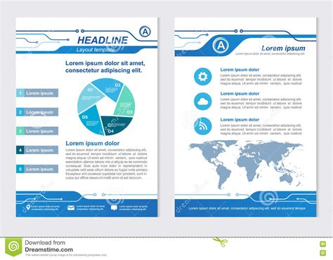 layout template size a4 front page and back page line