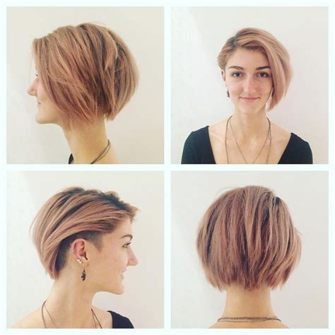 graduated layered blunt cut hairstyle pretty undercut bob with side bangs hair styles