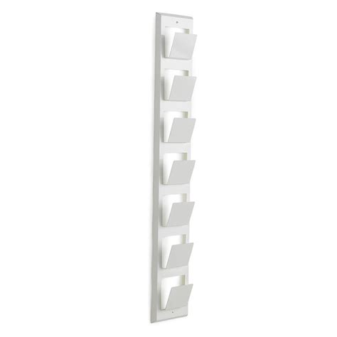 White Wall Magazine Rack by Magazine Wall Rack 1180x180x70mm White Aj Products