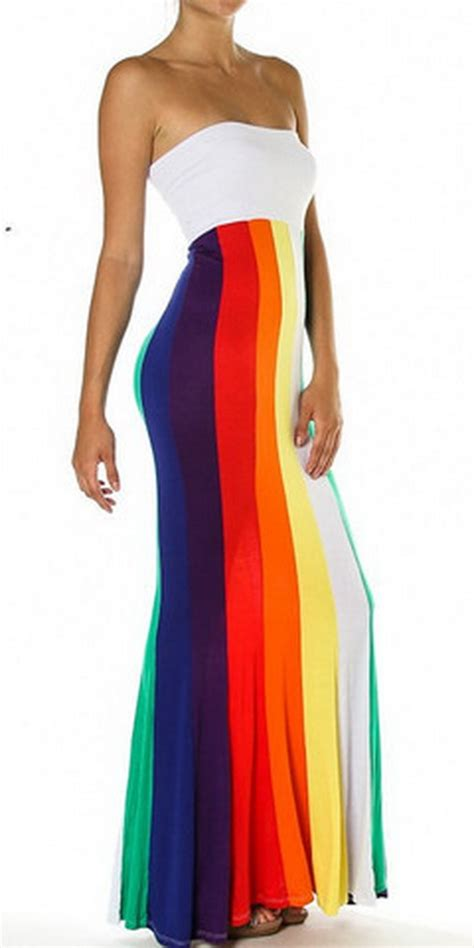 Rainbow Maxy Dress rainbow maxi dress