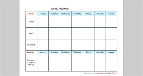 7 day weekly planner template 6 best images of by day dinner menu planner printable 7