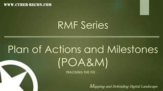 poa m template an introduction to the plan of actions and milestones poa