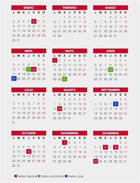 Calendario 2017 Fechas Festivas Calendario De Festivos Para Caudete En 2017 Caudete Digital